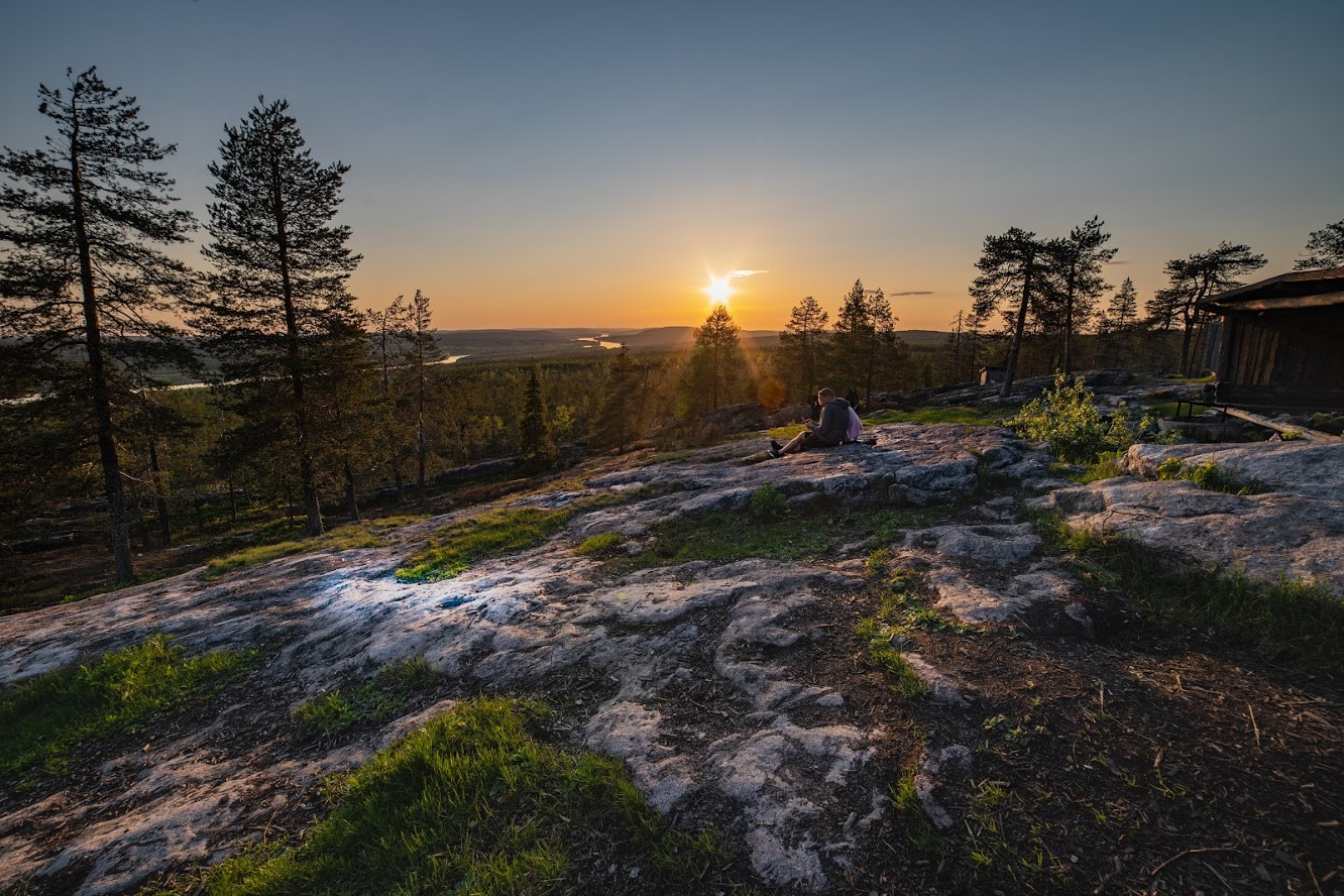 Midnight sun in Rovaniemi