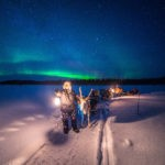 NORTHERN LIGHTS HUNTING BY REINDEER SLEDGE