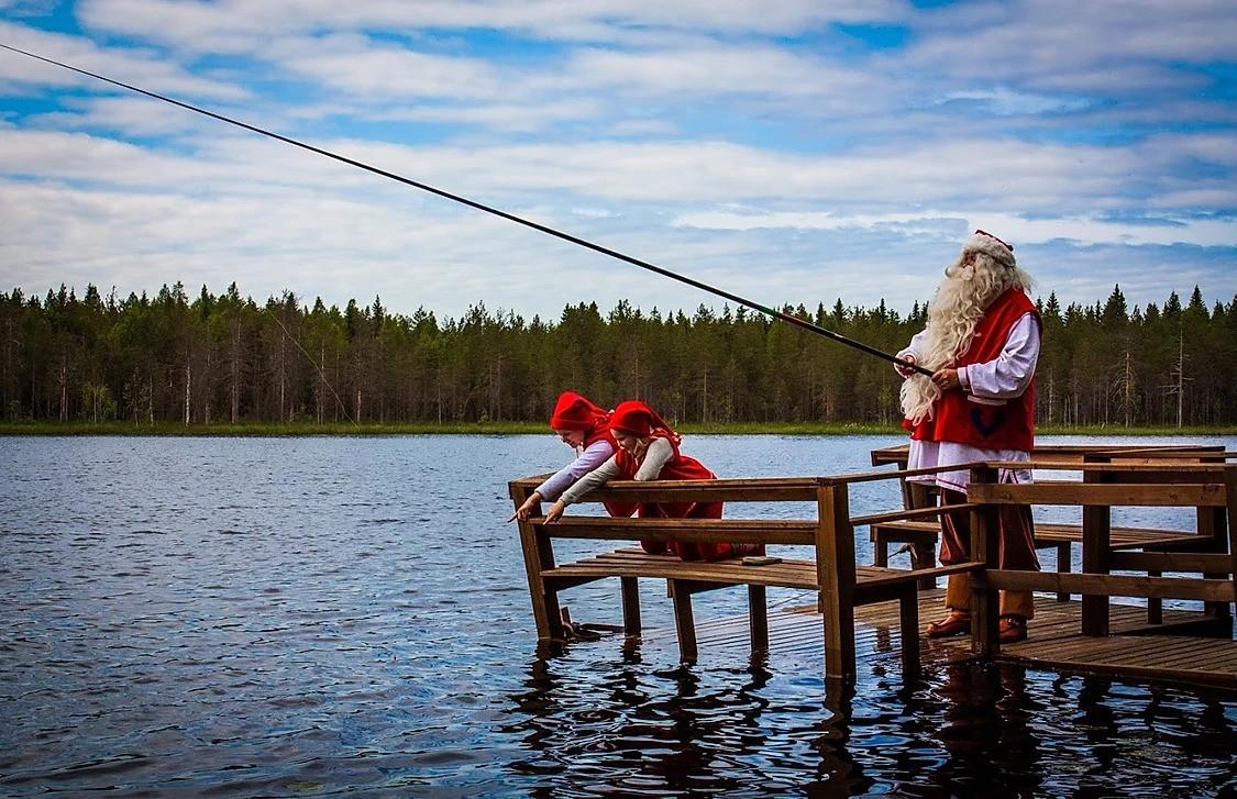 Fishing in Rovaniemi